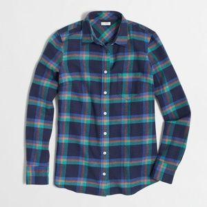 J.Crew Factory Perfect Boyfriend Shirt in Flannel